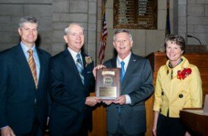 Tom McKnight recently was named the Nebraska Family Physician of the Year at the Nebraska State Capitol